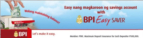 how to open bpi easy savers account